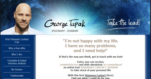 George Tupak's homepage, which has since been deleted.