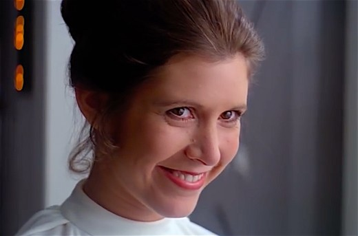 In Star Wars, Princess Leia fought against the Galactic Empire.  In real life, Carrie Fisher fought against imaginary demons.