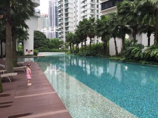 Swimming Pool at Newton Road Apartments
