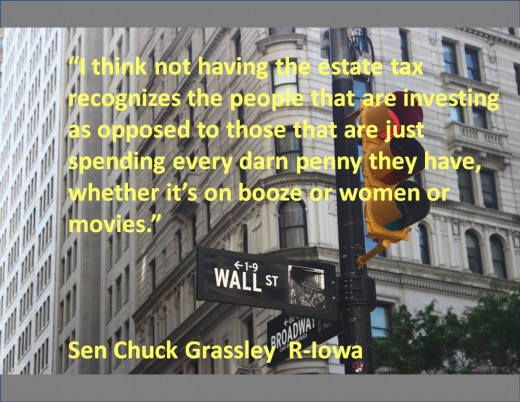 Sen. Chuck Grassley's R-Iowa comments on Americans who are not wealthy investors.