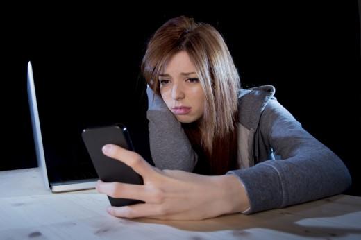 Teen Girl Being Cyberbullied
