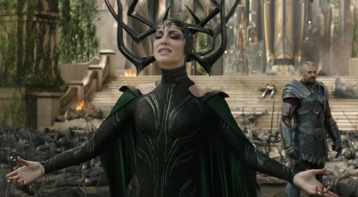 Courtesy of Marvel Studios.  Hela, first born of Odin, former general of his armies, and next in line to the throne.  Second only to her father in power, she learned none of his latter restraint