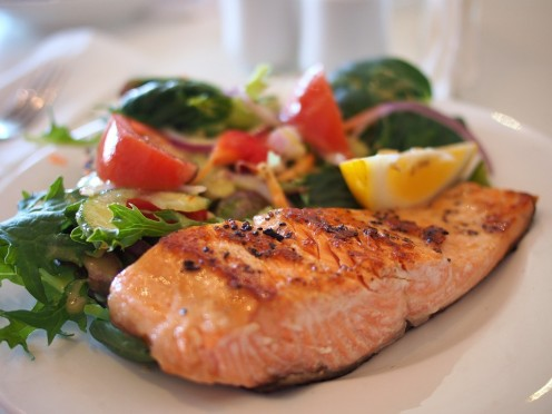 Salmon has a high amount of Vitamin D.