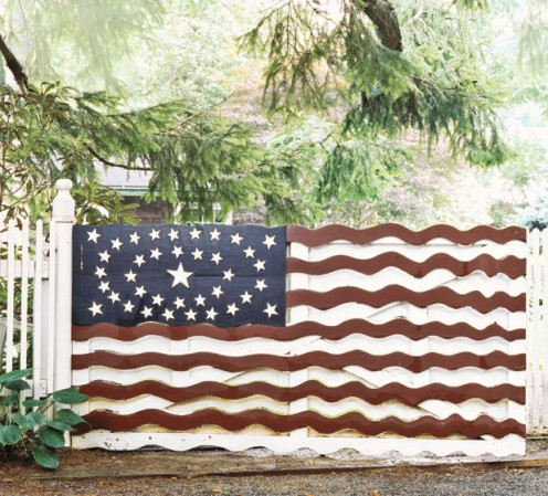 A decorated fence
