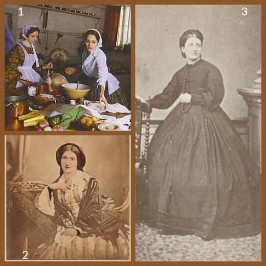 1. Mrs Beeton - from a BBC Play   2. Isabella Beeton - 1854   3. Mrs Beeton - 1860