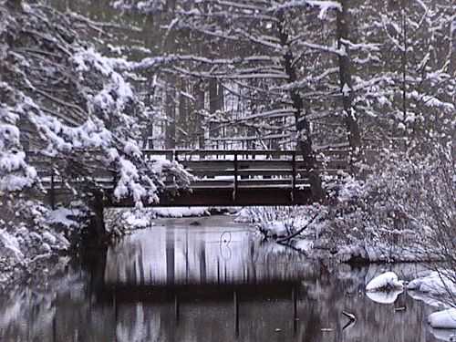 By courane01 (Bridge over icy water) [CC BY 2.0 (http://creativecommons.org/licenses/by/2.0)], via Wikimedia Commons