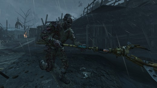 Call of Duty - kinda messed up these days, with an image depicting a zombie character on the Call of Duty Wiki fandom page, with what appears to be a zombie holding some form of a Halo sword/spear thing