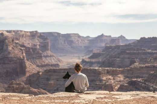 Utah's Little Grand Canyon. This photo draws you into the landscape. You start to wonder who the woman is and what she is thinking.