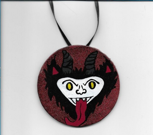 Hand painted Krampus ornament
