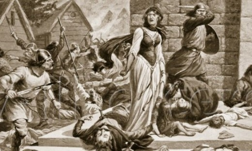 Chaos reigns around Gunnhild in Oxford - the sister of Svein 'Forkbeard' was slain on Aethelred's orders during the St Brice's Day Massacre, AD 1002