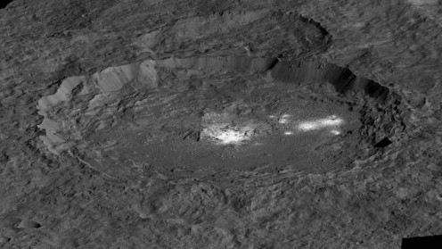 Salt deposits on Ceres