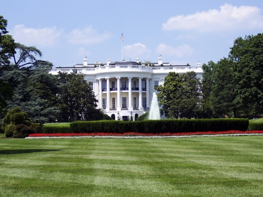 The White House, where the president lives.
