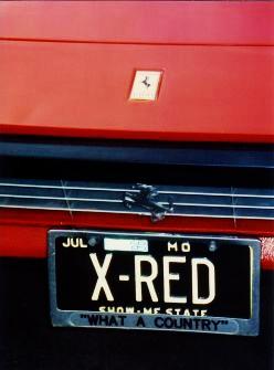 License plate on Yakov's Ferrari