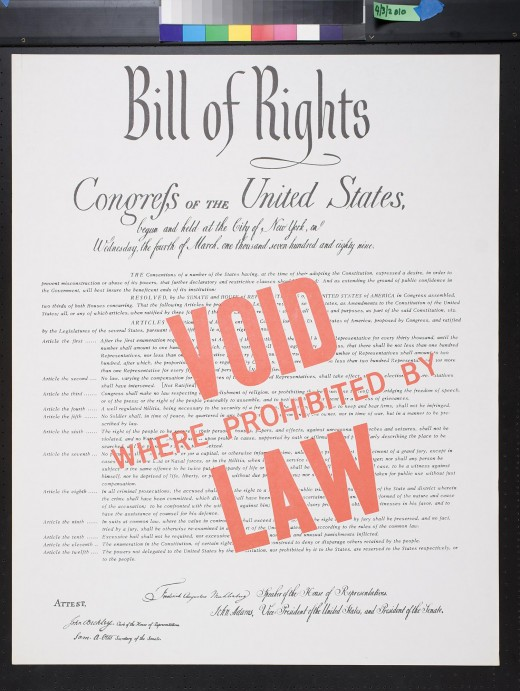 This is the Bill of Rights. The Bill of Rights include the first 10 amendments of the constitution. One of those amendments includes Freedom of Speech. The Net Neutrality repeal crushed freedom of speech and gave rise to dictatorship rule.