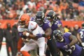 Ravens defeat Browns 27-10. Kizer's 3 turnovers help Browns fall to 0-14.