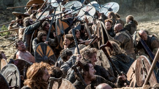 Northumbrian fyrdmen engage with Harald Sigurdsson's Norse levies