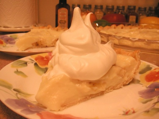 Optional whipped cream makes this pie even more tasty!