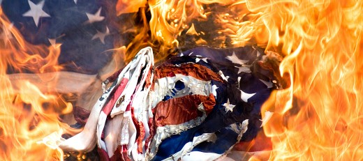 The American way of life as it burns, shrieking for mercy and and crying for help as Donald Trump and his yes-men convert America into a Dictatorship.