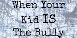 My Kid Is the Bully...What Do I Do?