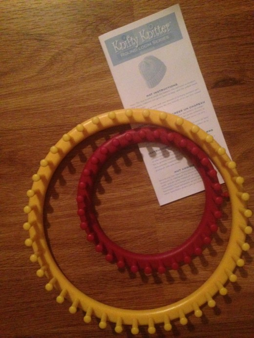 Red and Yellow Round Loom with Instructions