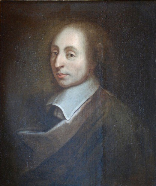 A painting of Blaise Pascal (1623-1662) painted by Francois II in 1691.