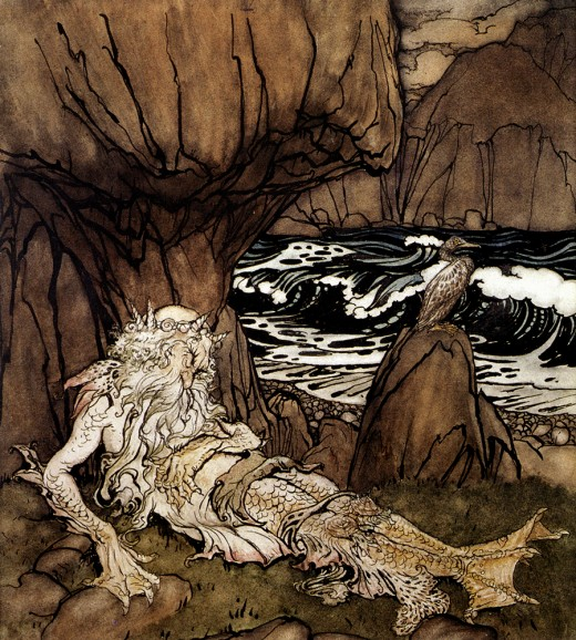 Mermen were said to be either incredibly beautiful or terrifyingly ugly.