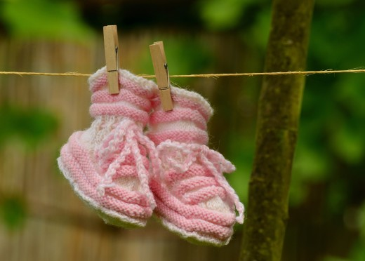 Drying baby booties
