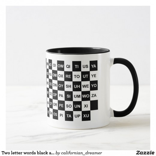 Two Letter word Scrabble Mug