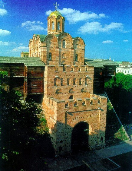 Preserved monument, the Golden Gate at Kiev, the first thing Gytha would have seen on arrival with her husband-to-be