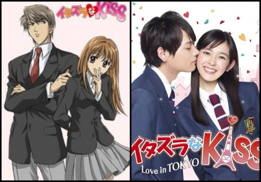 Itazura na Kiss (Left-Right) Anime and Live-action drama