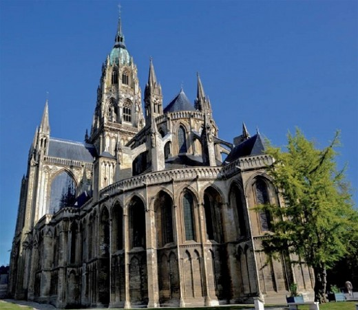 Bayeux cathedral - half-brother Odo was appointed to the bishopric when he was still young