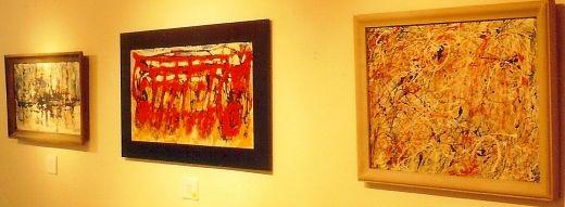 Robert Rogan paintings hanging in the William Reaves Art Gallery