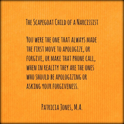 The Scapegoat of a Narcissist by Patricia Jones, M.A.