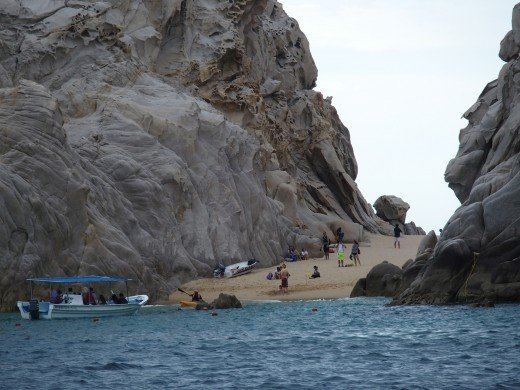 This is a famous swimming beach. It is down by Land's End, the very southern tip of Baja Peninsula.