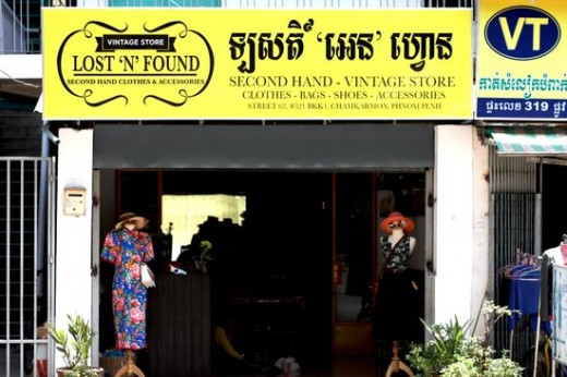 secondhand shop in Cambodia