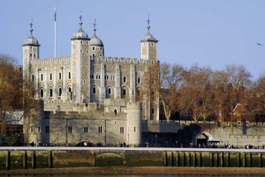 The White Tower, part of the original Norman Tower of London, stands head and shoulders above the other later structures added by later kings