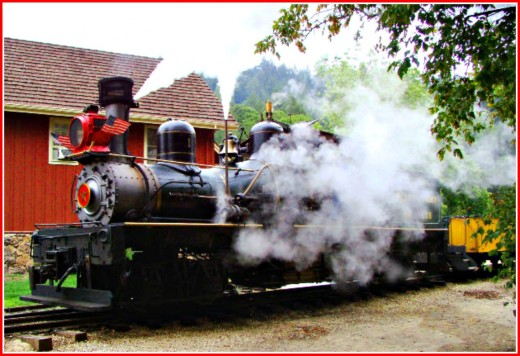 Try something different such as taking a ride on  an old West steam engine train!