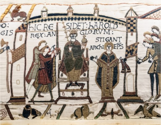 This was what stung William into action - despite giving the duke assurance that he would stand by his crowning Harold was himself crowned at the West Mynster on the day of Eadward's entombment