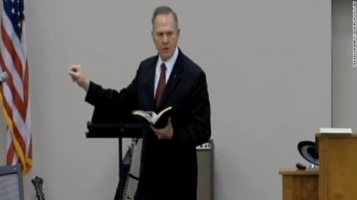 Roy Moore preaches to the faithful.