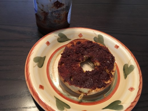 Bagel with Chocolate Spread