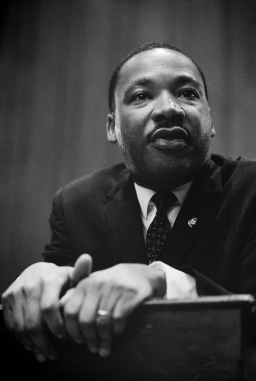 Martin Luther King Jr at a press conference. Brilliant man who helped change the racial landscape.