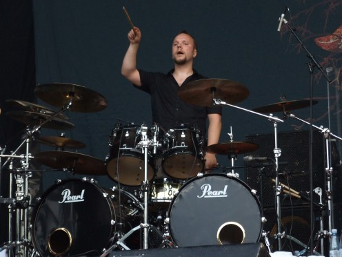 A photo of drummer Jan Rechberger seen here in 2009. He may be one of the lesser known members of this band due to the fact that Tomi Koivusaari and Esa Holopainen get so much attention.