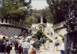 Antoni Gaudi's Park Guell - Utopian Environment in Barcelona, Spain