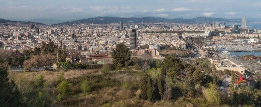 View of Barcelona, Catalonia.