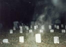 Mist in Greenwood Cemetery