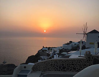 Sunsets in Santorini
