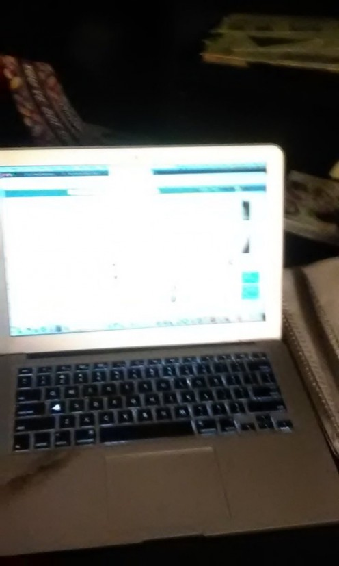 A photo of my new MacBook Air laptop