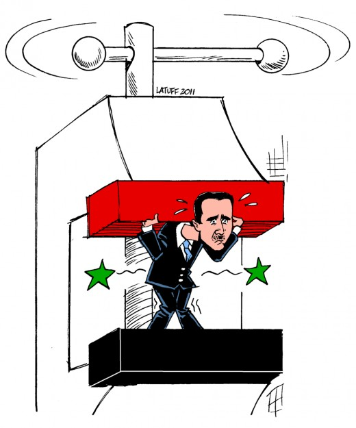 """Bashar al-Assad under pressure"""