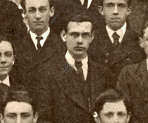 Francis Thompson in a photo taken at the Medical College he attended; where he learned medical surgical techniques.