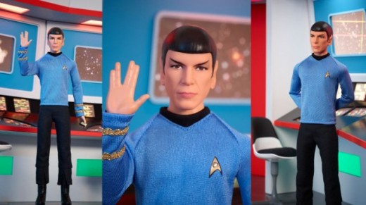 Mattel has released dolls based on TOS.  Get Spock, Kirk, and Uhura